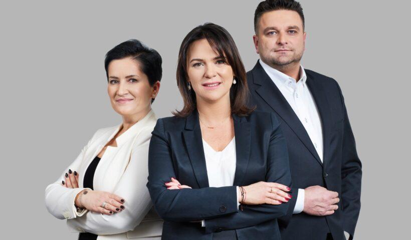Na zdjęciu od lewej: Dominika Cepek, Renata Nevretdinov-Drużyńska i Krzysztof Krakowiak.